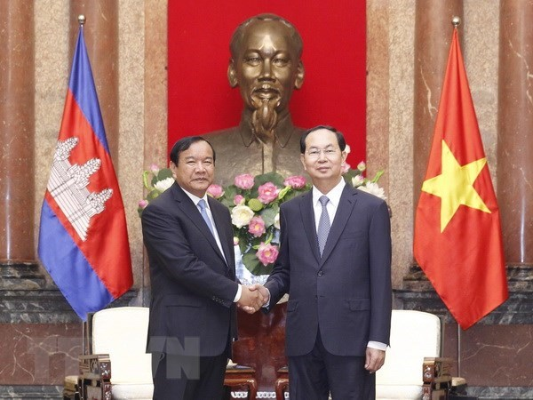 President Tran Dai Quang hosts Cambodian Foreign Minister hinh anh 1