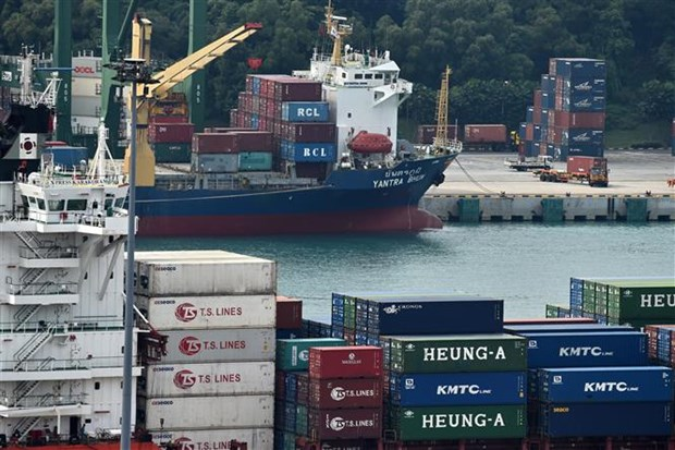 Singapore's exports increase after three-month drop hinh anh 1