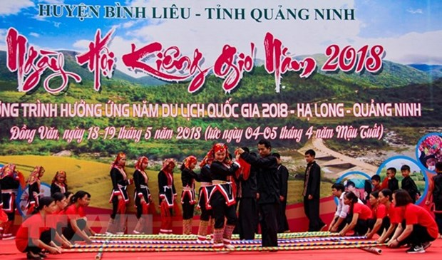 "Dao Thanh Phan ethnics in Quang Ninh celebrate ""Ngay Kieng gio"" festival hinh anh 1"