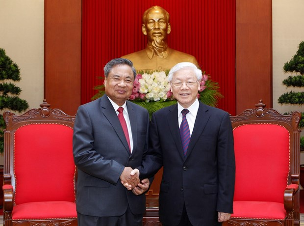 CPV leader receives officials of LPRP Organisation Commission hinh anh 1