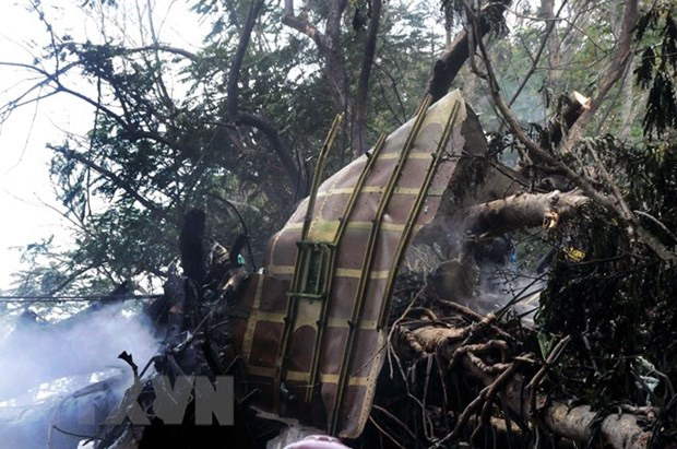 Military aircraft crashes in western Thailand hinh anh 1