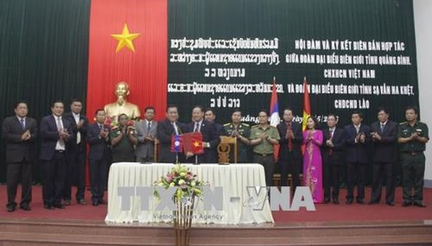 Quang Binh, Lao province agree to strengthen cooperation hinh anh 1