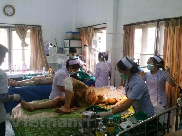 14 former OVs injured in bus accident in Laos hinh anh 1