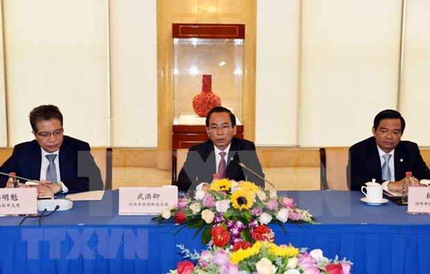 Hanoi, Shanghai agree to strengthen cooperation hinh anh 1