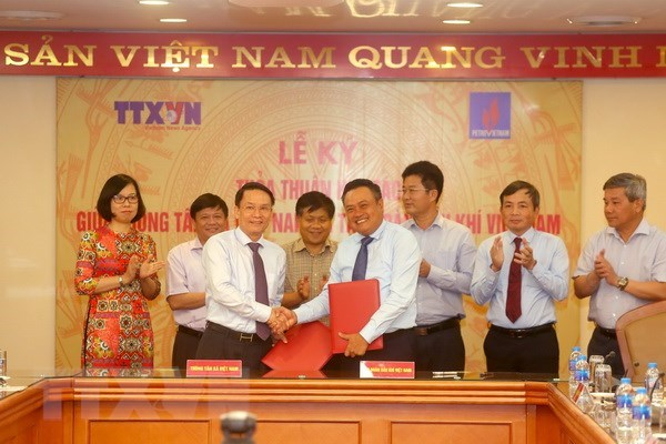 Vietnam News Agency, PetroVietnam sign agreement hinh anh 1