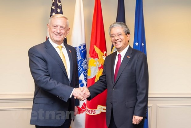US Secretary of Defence vows to foster cooperative ties with Vietnam hinh anh 1