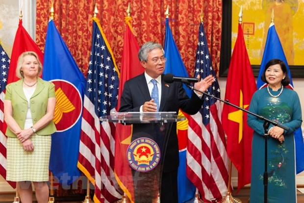 Vietnamese Ambassador to US bids farewell to local officials, friends hinh anh 1