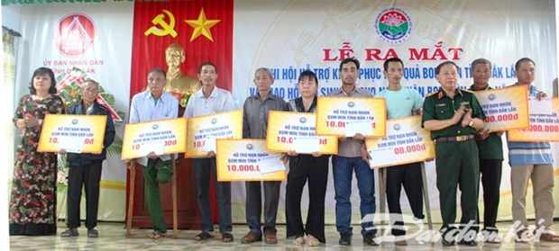 Dak Lak: UXO victims receive financial aid to improve livelihoods hinh anh 1