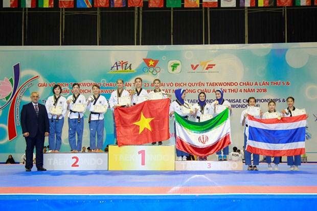 Vietnam ranked third at 5th Taekwondo Poomsae Championship hinh anh 1