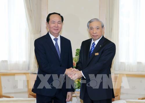 President Tran Dai Quang visits Japan's Gunma prefecture hinh anh 1