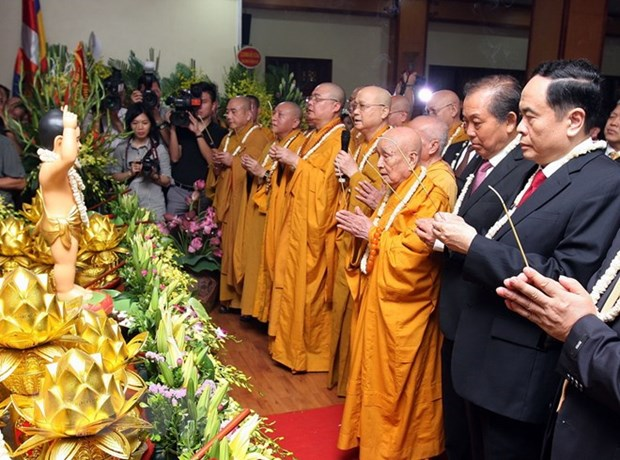 Grand ceremony marks Lord Buddha's 2562nd birthday hinh anh 1