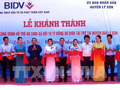 Social welfare facilities put into use on Ly Son island hinh anh 1