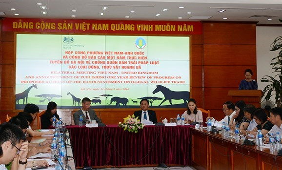 Hanoi statement to fight illegal wildlife trade under review hinh anh 1