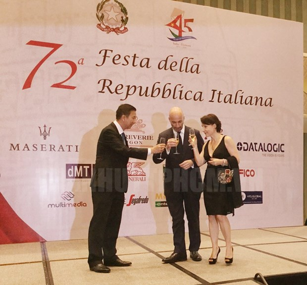 Italy's 72nd National Day marked in HCM City hinh anh 1