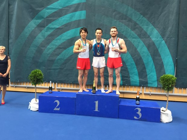 Vietnam wins golds at world gymnastics champs in Slovenia hinh anh 1