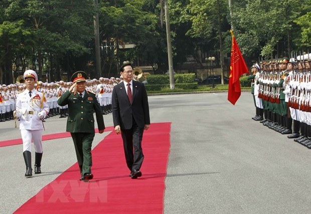 Defence Minister welcomes RoK counterpart in Hanoi hinh anh 1