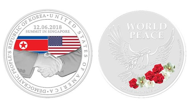 Singapore launches special medallions for US-DPRK Summit hinh anh 1