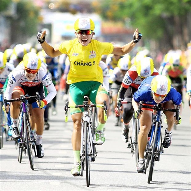 Cyclist Nguyen Thi That wins Belgium cycle race hinh anh 1