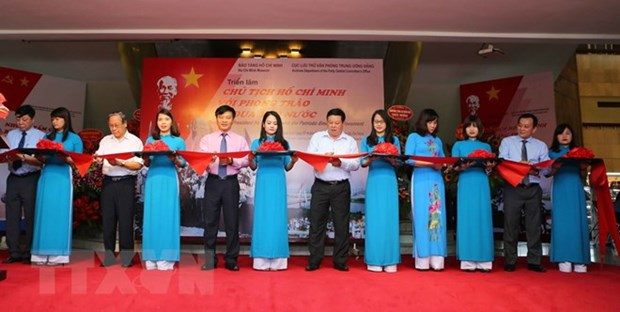 Exhibition highlights President Ho's role in patriotic movements hinh anh 1