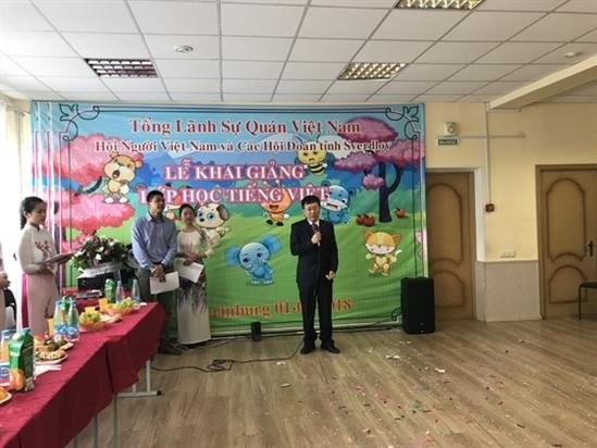 Vietnamese class opens for Vietnamese people in Russia hinh anh 1