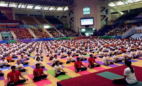 Hanoi: 1,200 people to join yoga performance hinh anh 1