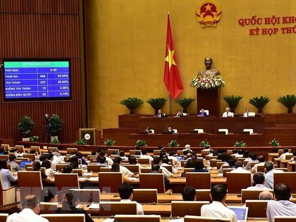 NA adopts two resolutions, three bills hinh anh 1