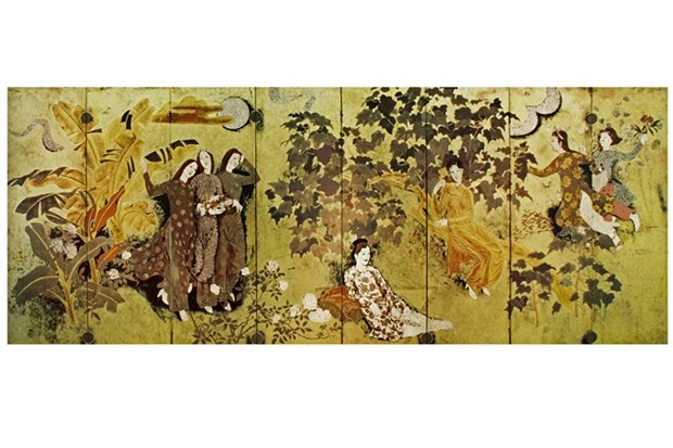Experts: Lacquer paintings are Vietnamese trademark hinh anh 1