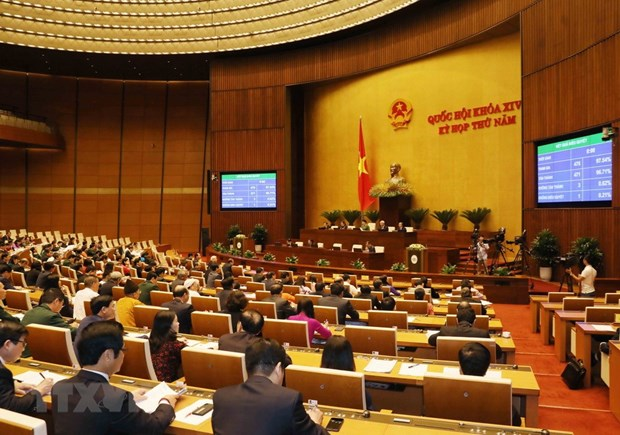 Legislators adopt one law, three resolutions hinh anh 1