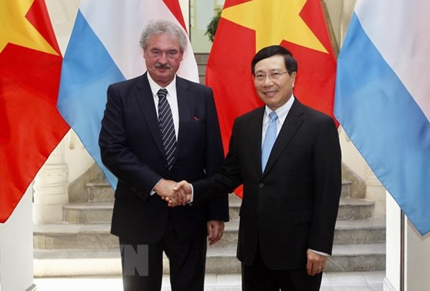 Vietnamese, Luxembourg FMs review bilateral ties during talks hinh anh 1