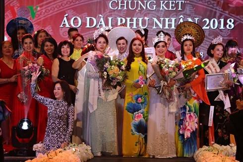 Winners of Mrs Ao Dai Vietnam Europe 2018 announced hinh anh 1