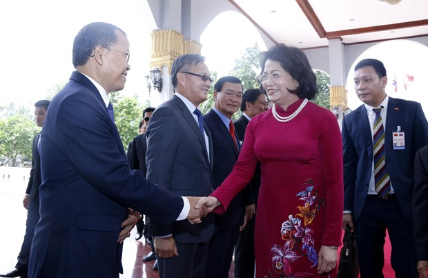Vietnamese Vice President pays official visit to Laos hinh anh 1