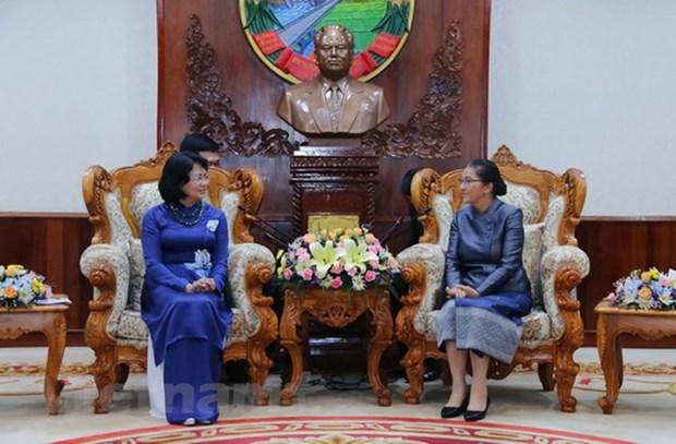 Vice President Dang Thi Ngoc Thinh active in Laos hinh anh 1