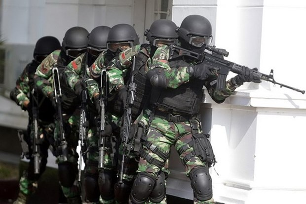 Indonesia arrests 10 terror suspects during Eid al-Fitr holiday hinh anh 1