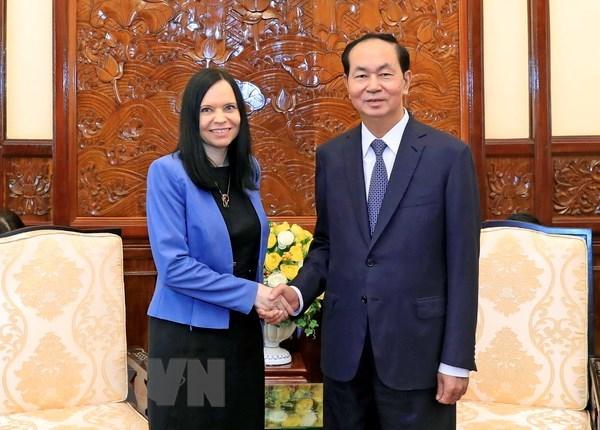 President Tran Dai Quang receives outgoing Polish ambassador hinh anh 1