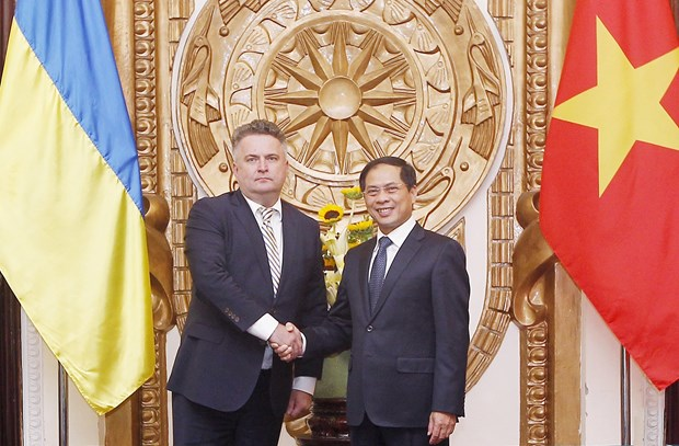 Deputy FMs of Vietnam, Ukraine hold political consultation hinh anh 1