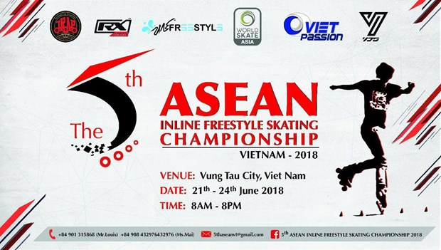 120 skaters show off skills at 5th ASEAN champs hinh anh 1