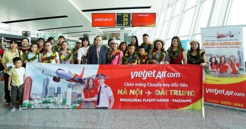 Vietjet Air marks first flight on Hanoi – Taichung route hinh anh 1