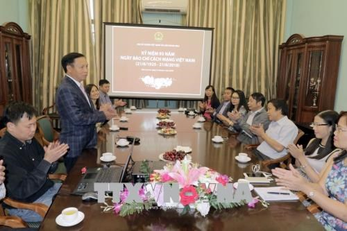 Revolutionary press day celebrated in Russia hinh anh 1