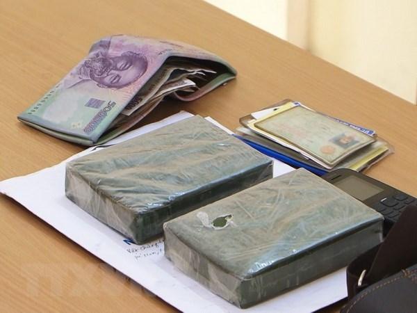 Lao Cai border guards arrest heroin smuggler hinh anh 1