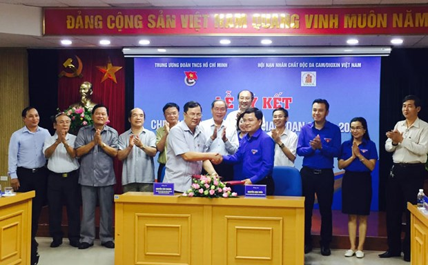 Vietnamese youths join hands in caring for AO/dioxin victims hinh anh 1