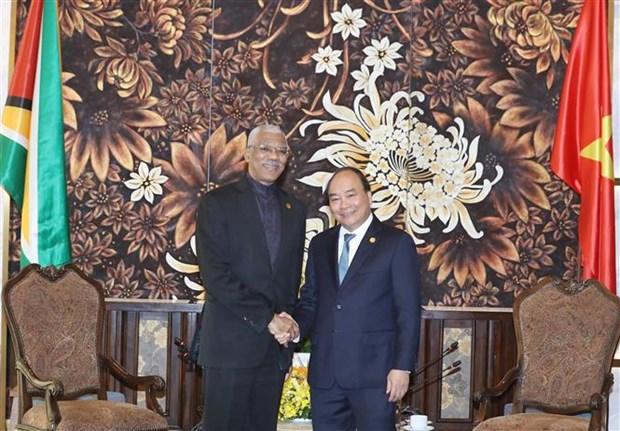 PM meets Presidents of Nauru, Marshall, Guyana on GEF-6 sidelines hinh anh 3