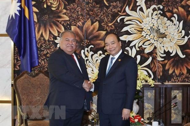 PM meets Presidents of Nauru, Marshall, Guyana on GEF-6 sidelines hinh anh 1