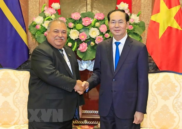 President Tran Dai Quang meets Nauru President hinh anh 1