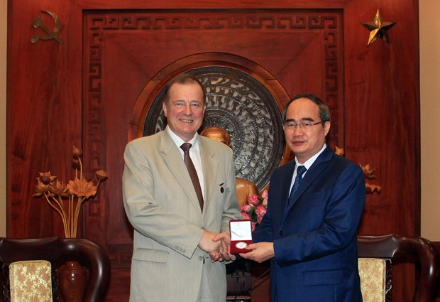 HCM City Party Secretary receives Saint Petersburg officials hinh anh 1