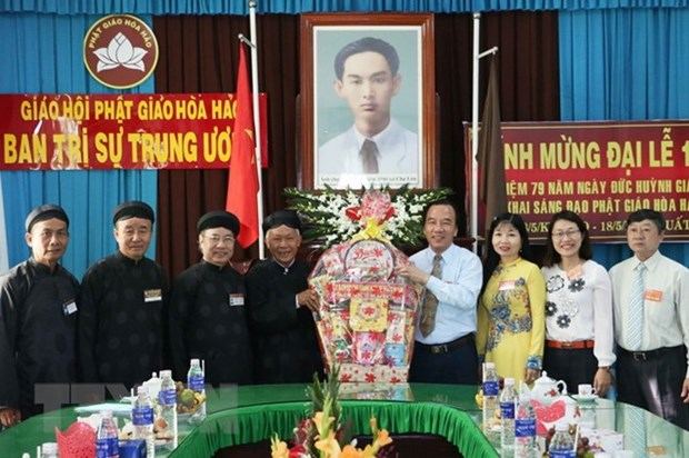 Hoa Hao followers celebrate the sect's 79th founding anniversary hinh anh 1