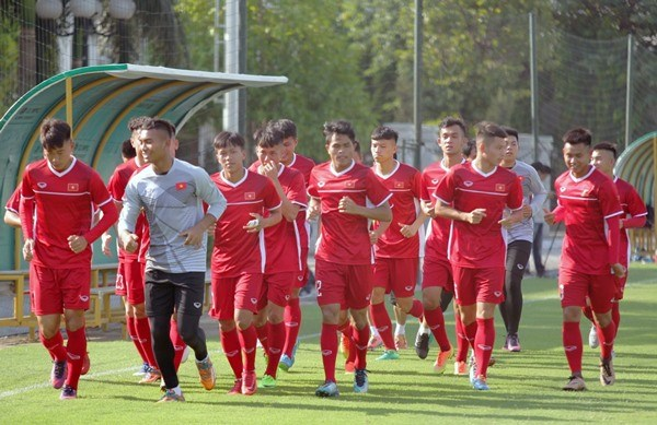 U19 Vietnamese footballers compete in ASEAN championship hinh anh 1
