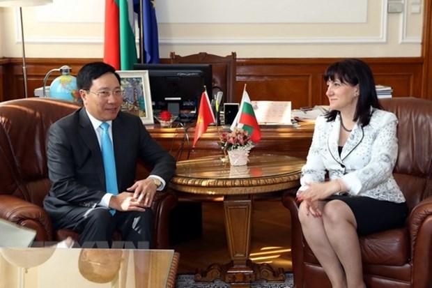 Deputy PM Pham Binh Minh enhances cooperation with Bulgaria hinh anh 1