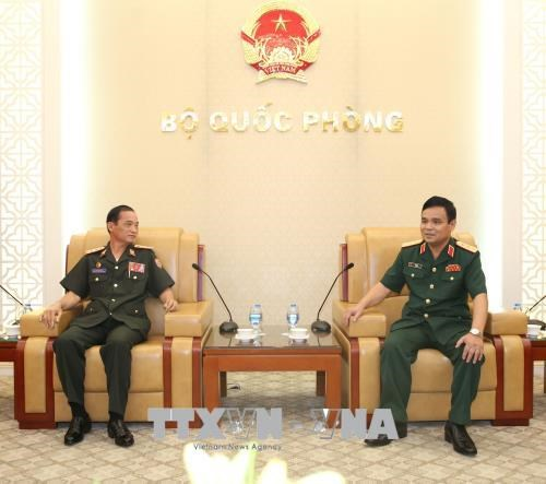 Lao Defence Ministry delegation welcomed in Vietnam hinh anh 1