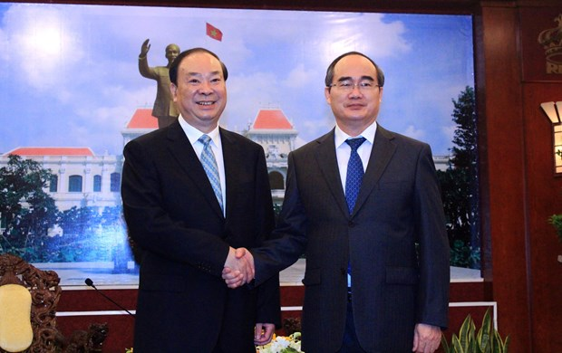 Ho Chi Minh City leader receives Chinese Party official hinh anh 1