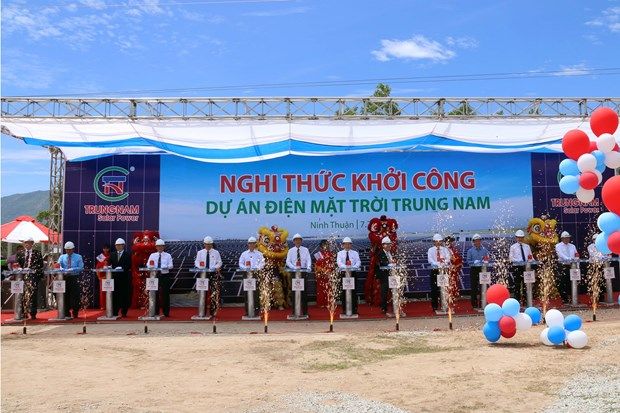 Work on 5 trillion VND solar power plant starts in Ninh Thuan hinh anh 1